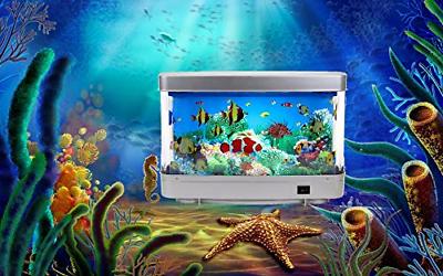 Lightahead Artificial Tropical Fish Aquarium Decorative Lamp Virtual Ocean in A 2