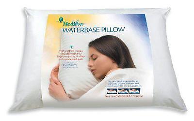 Mediflow Waterbase Contour Water Pillow Neck Back Pain Sleep Apnea UK Size
