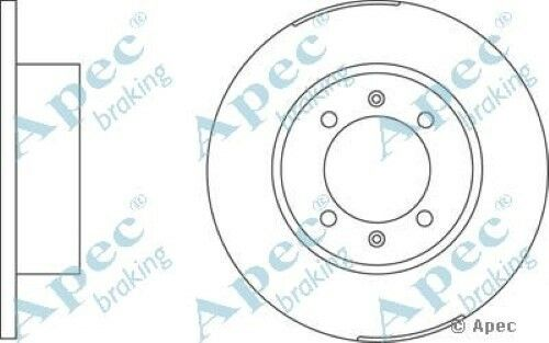 1x OE Quality Replacement Front Axle Apec Solid Brake Disc 4 Stud 280mm - Single
