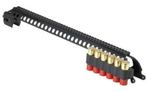 "MESA 6-Shell SureShell Side Saddle Mount Rail Remington 870 12-Gauge 20"""