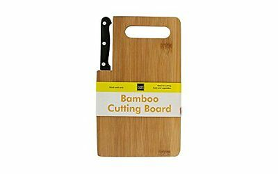 Kitchen Bamboo Cutting Board With Knife