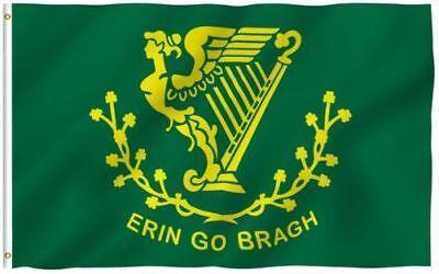3X5 ERIN GO BRAGH FLAG IRISH BRAUGH IRELAND EIRE F129 - Ireland Flags