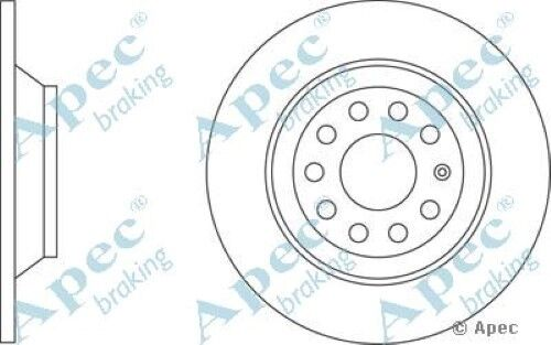 1x OE Quality Replacement Rear Axle Apec Solid Brake Disc 5 Stud 302mm - Single