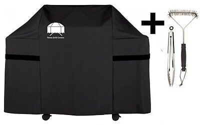 Texas Gas Grill Cover 7553 Premium for Weber Genesis Including Brush and Tongs