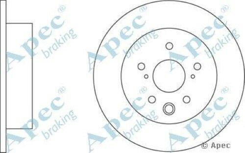 1x OE Quality Replacement Rear Axle Apec Solid Brake Disc 5 Stud 291mm - Pair