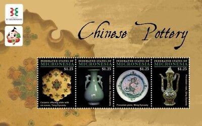 Micronesia - Wuxi Expo-Chinese Pottery Stamp- Sheet of 4 MNH