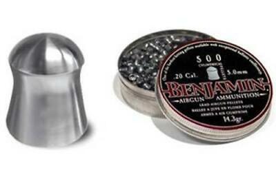 Benjamin Airguns P50 .20 Cal Cylindrical Pellets 14.3gr Per -