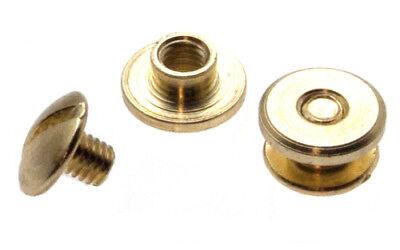 100 Stück Buchschrauben 2mm Gold Chicagoschrauben Buchnieten Gürtelschrauben