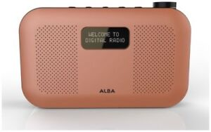 Alba Mono 3W LCD Auto Time Update DAB Radio Orange
