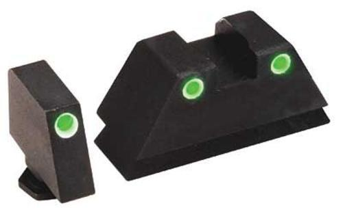 AmeriGlo GL-329 Tall Suppressor Night Front/Rear Sights For Glocks