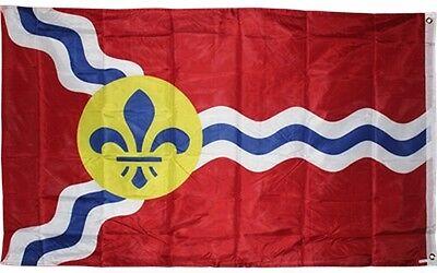 City of St Louis Flag 3x5 ft Double Sided same both sides Missouri MO Saint