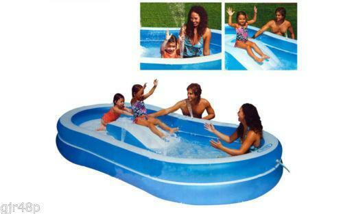 Swimming pool slide ebay for Small paddling pool