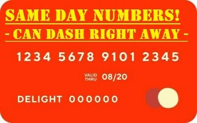 DoorDash Official Red Card | FAST SAME DAY CARD NUMBERS | USPS 1ST CLASS SHIP !!