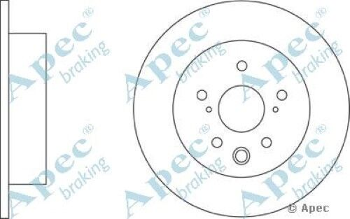 1x OE Quality Replacement Rear Axle Apec Solid Brake Disc 5 Stud 291mm - Single