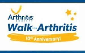 Arthritis Walk 10th Annual Event (Halifax Oval June 2nd, 2019)