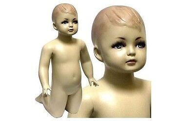 Mn-036 Kneeling Baby Toddler Fleshtone Mannequin With Realistic Face