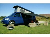 VW T5 Transporter Camper Elevating Roof Pop Top 4 Berth T30, Motorhome