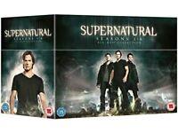Supernatural complete boxed set of season 1-6 Bluray region free