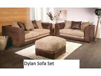 **FREE DELIVERY**Dylan 3 Seater and 2 seater Sofa set.Available in different Colours