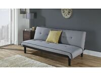 Compact Frontier Grey Fabric Sofa Bed