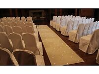 IVORY STARLIGHT CARPET RUNNER WITH COLOUR CHANGING TWINKLY LIGHTS - 8 METRES X 1 METRE - FOR HIRE