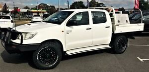 2012 Toyota Hilux KUN26R MY12 SR (4x4) Glacier White 5 Speed Manual Dual C/Chas Beckenham Gosnells Area Preview