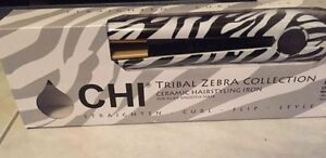Brand new in the box, rare zebra Chi flat iron/hair straightener