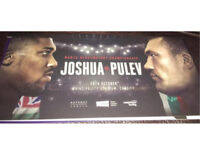 2x Anthony Joshua vs Carlos Takam tickets (was Kubrat Pulev)