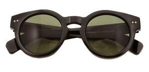 Negro-Vintage-Lente-Transparente-Retro-Clasico-DEPP-Grueso-Redondo-Diseno-Gafas