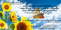 Super-Relaxing, Heart-Opening Weekend Retreat $240--outside Dunc