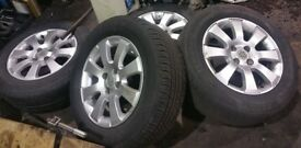 Vauxhall Astra x4 195/65/15 Alloy Wheels And Tyres