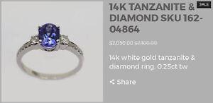 Marsh & Son Tanzanite Rings