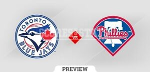 Blue Jays vs Phillies - August 24 to 26 (2-4 tickets)