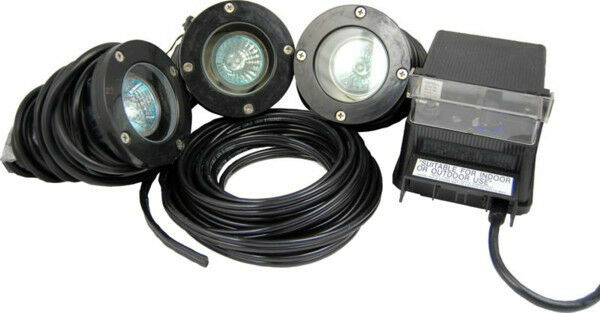 Pond Force 3 Light Kit -LED lights-water garden-fountain-waterfall-submersible