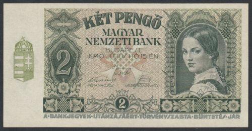 Hungary 2 Pengo 1940 UNC