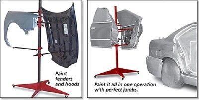 Auto Body Paint Stand Tree Painting Rack Door Hood Fender Panel Holder Car (Auto Body Parts Door)