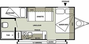 IN SEARCH OF Travel Trailer with bunks in the $10,000 range