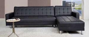 Grand divan sectionnel NEUF en cuir
