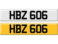 *HBZ 606* Dateless Personalised Cherished Number Plate Audi BMW M3 Ford VW Caddy Mercedes Vauxhall