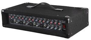 Pulse PMH200 4 Channel 200W 2 x 100W Mono Mixer Amp Head PA Speaker Amplifier