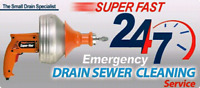 Clogged drains  ? We will clean it or you don't pay !!