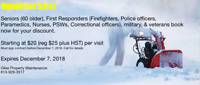 Snow Blowing - Senoirs, first responders, Military, veterans