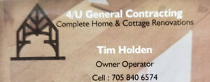 Looking for part/full time labours for  general contracting.
