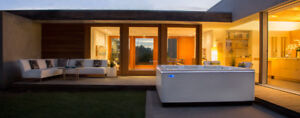 A Hot Tub with 90% less plumbing than a conventional tub.