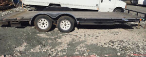 20ft x 7ft Flat Bed Trailer Deck For Equipment Moving (For Rent)