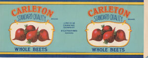 1940's ST. CATHARINE'S CANNING COMPANY LABEL PLUS 3 DIFF PINS
