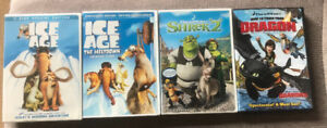**FOUR KIDS DVD MOVIES FOR SALE**