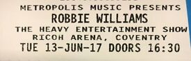 2 x Robbie Williams Tickets Excellent Seats!