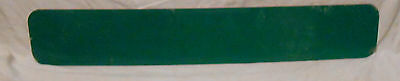 VINTAGE UNUSED STREET SIGN NO NAME GREEN  6 x 36 ALUMINUM MAKE YOUR OWN NAME