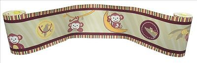 (Wall Border For Jungle Monkey Green Baby Bedding Set By Sisi)